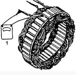 Проверка статора генератора - замыкание на массу